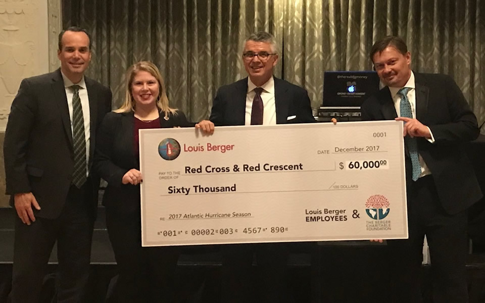 LOUIS BERGER'S GIVE BACK CAMPAIGN RAISES $60,000 TO SUPPORT RED CROSS / RED CRESCENT DISASTER RELIEF EFFORTS